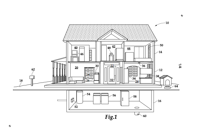 cross section of home